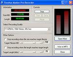 Tinnitus Masker Pro recording panel