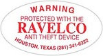 Warning Sticker - RAVELCO Anti-Theft Device