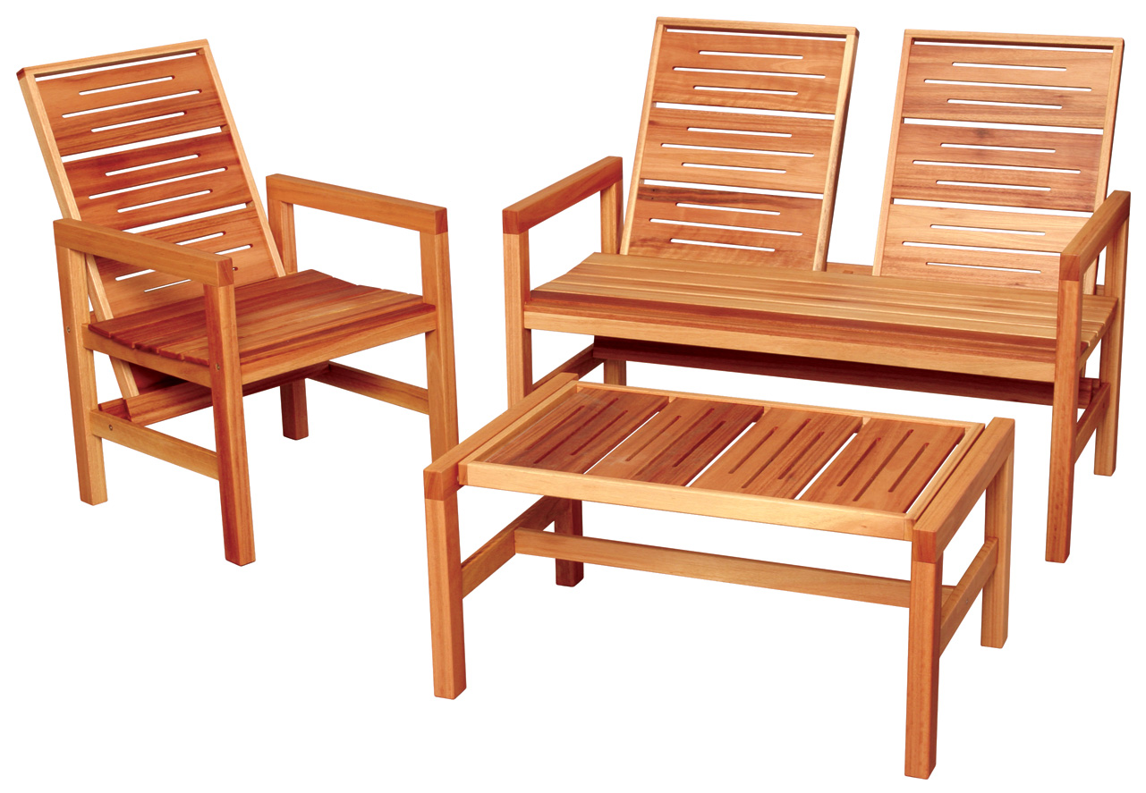 Cwi s outdoor wood furniture to be featured on shopnbc for Wooden furniture