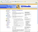 BYOAudio Member Home Page
