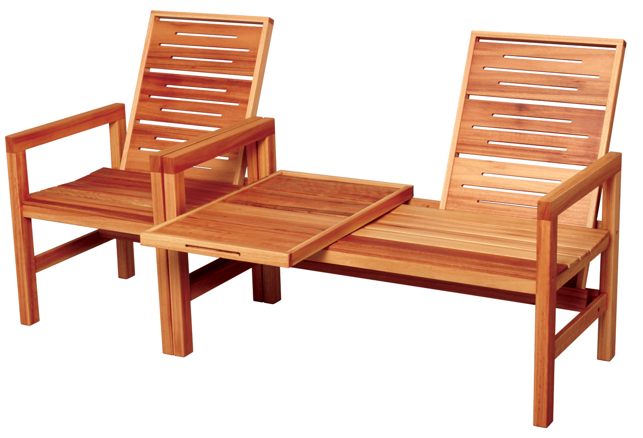 Outdoor wood furniture from creative woodwork for Wooden furniture