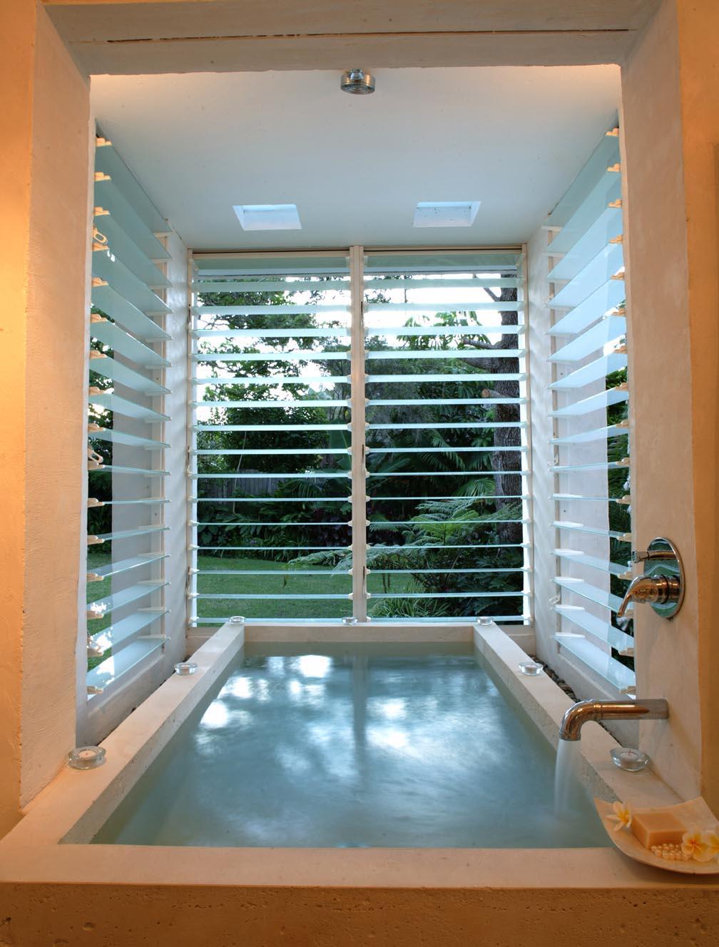 Minimalist bathroom window coverings