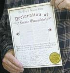 Declaration of Lunar Ownership (Detail)