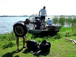 Airboaters collect tires