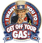 "5"" Static Cling Get Off Your Gas Decal"