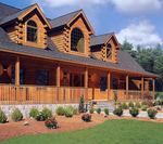 This log home by Northeastern Log Homes was built in suburban Connecticut, less than an hour's drive from New York City. It demonstrates that today's log homes are year round and can be built just about anywhere.