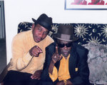 John Lee Hooker, Jr. with his father in 1999