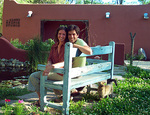 Artists Aloni and Reznik in Gardens of Villa de las Flores
