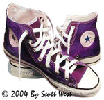 Scott West's painting PURPLE from West's 2004 International SHOES Show