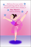 Ballerina Party Invitation