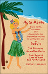 Hawaiian Hula Party Invitation - Tropical Island Luau
