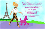 Pink Poodle Party Invitation - A Pretend Day in Paris