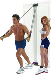 Man and woman exercising with SMARTGYM