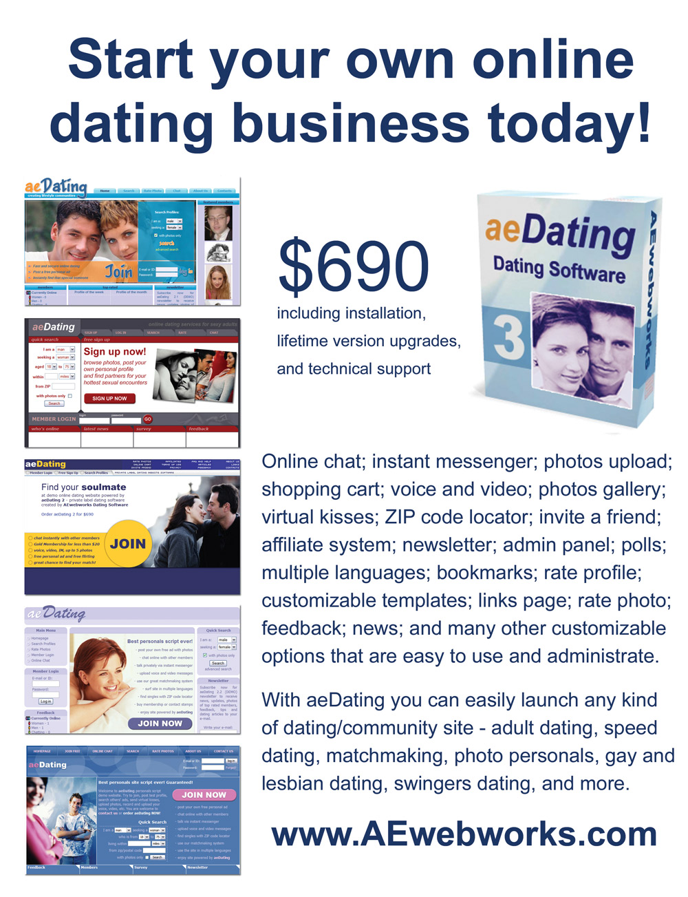 customizable online dating software
