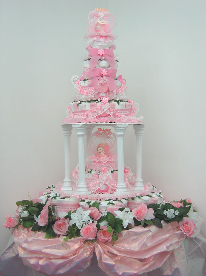 Introducing the worlds first diaper cake that resembles for Baby shower diaper cake decoration