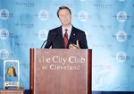 John Edwards speaks at the City Club of Cleveland.