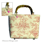 Pink Toile Malaga Bag for Breast Cancer Awareness