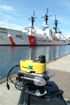 The highly portable VideoRay Pro III for conducting ship hull inspections. Photo credit: Steve Van Meter