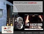 Screenshot: Trailer Player - Back Yard Example