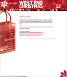 Screenshot: West End Christmas Website - Merry Shopping
