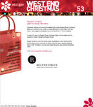 Screenshot: West End Christmas Website - Regent Street