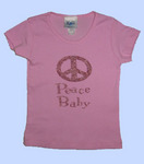 Peace Baby in Pink