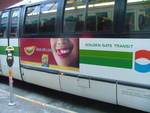 """Dinner with a smile"" is appearing on buses throughout the San Francisco bay area"