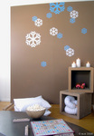 Dreaming of a white Christmas? blik snowflakes on your wall or front window make your dreams come true.