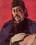 """Self Portrait with Palette"" Gauguin 1894"