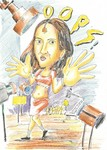 Cartoon of Catherine who loves Indian Pon-dance