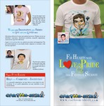 www.cartoon-shirt.com sends your message of love, pride, humor,  gratitude, or passion  in a most effective way