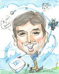 """""""Krish's Cartoon: loves Golf"""""""