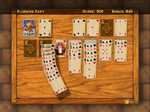 Hardwood Solitaire Swaying cards
