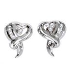 Diamond Heart shaped earrings.