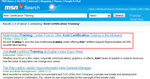 SmartPR as presented in MSN news results