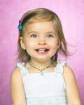 little girl with Baby Goddess necklace