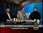 Pastor Donald Fareed on Muslim satellite TV (middle)