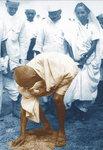 Gandhi Picks Up Salt at Dandi