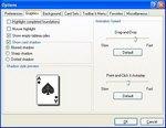 Options dialog screensot