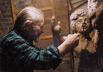 "The late artist Alton  S. Tobey, who died January 4th,2005 working on his sculpture ""Mentor andTelemachus"" for a local school. Tobey often donated his time and talents to schools and other arts organazations, and was a well-known teacher of art."
