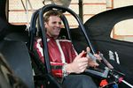 Olympic medallist James Cracknell in the Xtreme Racing Dragster