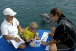 Dolphin Therapy on platform at CDTC. Photo 1 of 2.