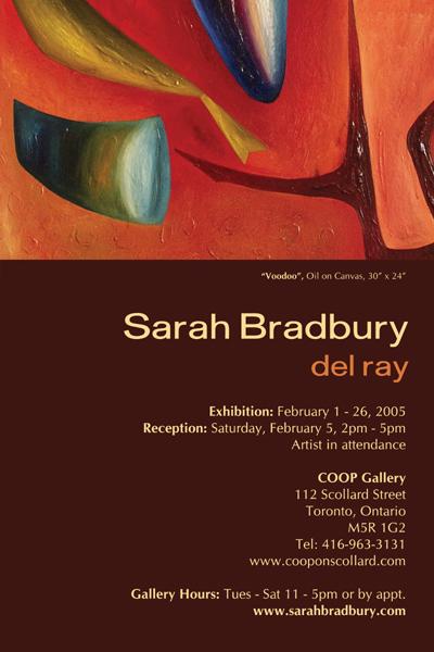 Del ray paintings by sarah bradbury on show this february 2005 sarah bradbury del raydel ray exhibition invitation coop gallery toronto stopboris Choice Image