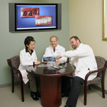 Dentists work as a team at Dental Partners of Boston