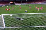 Columbia scores penalty kick against Korea.