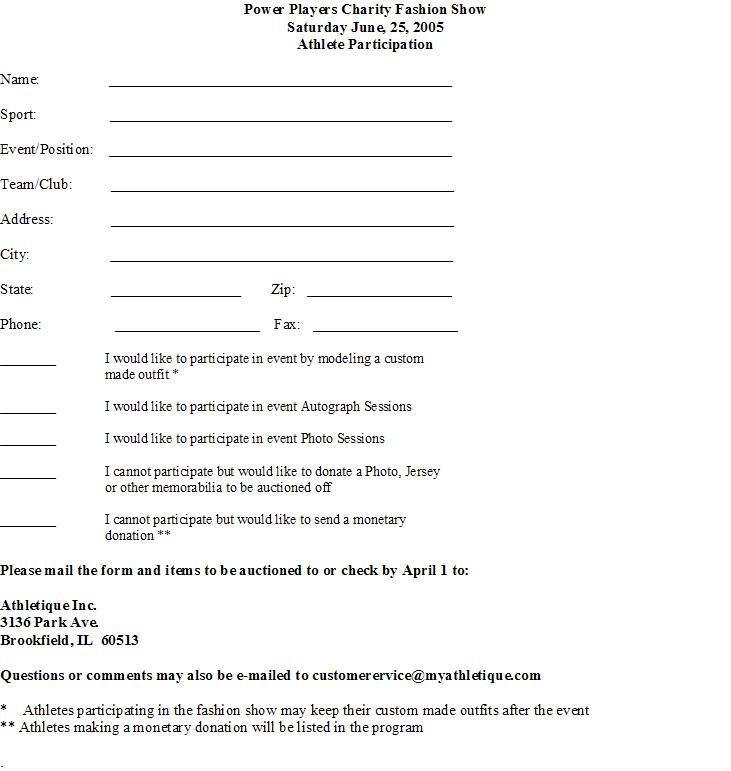 Corporate Sponsorship Form
