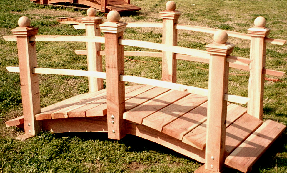 woodworking build a wooden garden bridge plans pdf