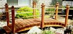 10 ft Redwood Garden Bridge