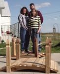 Rod and family on a 5 ft cedar bridge