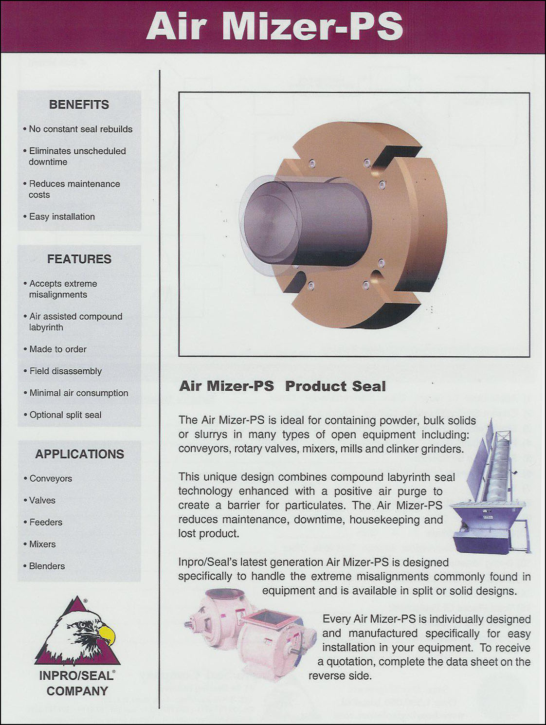 Shaft Seal For Powder Applicaitons
